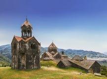 Middeleeuws Armeens klooster Haghpat, eeuw 10 stock afbeeldingen
