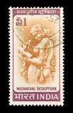 Middeleeuws beeldhouwwerk Royalty-vrije Stock Foto's