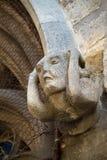 Middeleeuws Beeldhouwwerk van een hoofd Royalty-vrije Stock Afbeelding