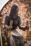 Middeleeuws Beulstandbeeld met een kap in Taxco Guerrero Mexico stock afbeeldingen