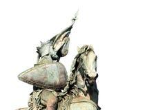 Middeleeuws de kruisvaarderstandbeeld van Brussel. Stock Foto's
