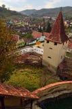 Middeleeuws dorp Stock Afbeeldingen