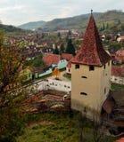 Middeleeuws dorp Stock Foto
