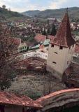 Middeleeuws dorp Stock Afbeelding