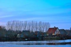 Middeleeuws dorp royalty-vrije stock afbeeldingen