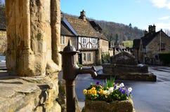 Middeleeuws dorp stock foto's
