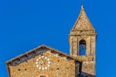 Middeleeuws dorp in Italië Stock Afbeelding