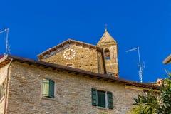 Middeleeuws dorp in Italië Stock Afbeeldingen