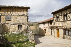 Middeleeuws dorp van Calatanazor in Soria royalty-vrije stock fotografie