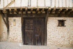 Middeleeuws dorp van Calatanazor in Soria royalty-vrije stock afbeelding