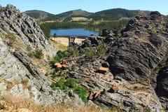 Middeleeuws dorp van Penha Garcia, Portugal Stock Fotografie