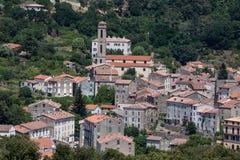 Middeleeuws dorp van Vico in Corsica, Frankrijk Royalty-vrije Stock Afbeeldingen