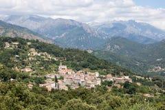 Middeleeuws dorp van Vico in Corsica, Frankrijk Royalty-vrije Stock Foto