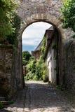 Middeleeuws dorpshuis in Frankrijk stock afbeelding