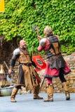 Middeleeuws festival bij Cochem-Kasteel royalty-vrije stock afbeelding