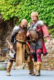 Middeleeuws festival bij Cochem-Kasteel royalty-vrije stock afbeeldingen