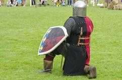 Middeleeuws festival in stad, Litouwen royalty-vrije stock afbeelding