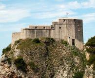 Middeleeuws fort in Dubrovnik stock fotografie