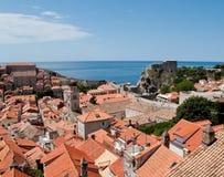 Middeleeuws fort in Dubrovnik stock afbeeldingen