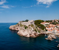 Middeleeuws fort in Dubrovnik royalty-vrije stock fotografie