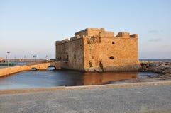 Middeleeuws Fort van een stad van Pathos Stock Afbeelding