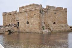 Middeleeuws Fort van een stad van Pathos Stock Fotografie