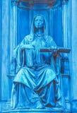 Middeleeuws gotisch standbeeld, Praag, een deel van het monument van Czec stock afbeelding
