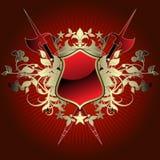 Middeleeuws heraldisch schild Stock Fotografie