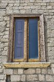 Middeleeuws houten venster Royalty-vrije Stock Afbeeldingen