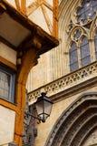 De middeleeuwse bouw van Vannes, Frankrijk stock foto's