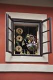 Middeleeuws huis in Praag Royalty-vrije Stock Foto's