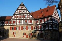 Middeleeuws huis in Stuttgart-Esslingen stadscentrum Stock Afbeelding