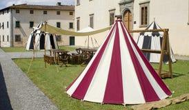 Middeleeuws kamp royalty-vrije stock fotografie