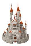 Middeleeuws kasteel. stock illustratie