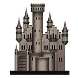 Middeleeuws kasteel royalty-vrije illustratie