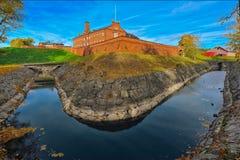 Middeleeuws kasteel bij de herfst royalty-vrije stock foto's