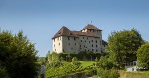 Middeleeuws kasteel in Bludenz, Oostenrijk royalty-vrije stock foto's