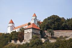 Middeleeuws kasteel in Bratislava, Slowakije Royalty-vrije Stock Afbeeldingen