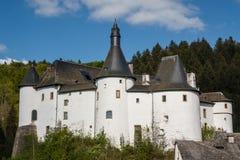 Middeleeuws kasteel in Clervaux royalty-vrije stock afbeelding