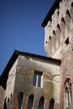 Middeleeuws kasteel, details Stock Afbeelding