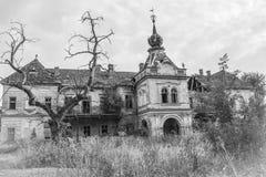 Middeleeuws kasteel dichtbij stad van Vrsac, Servië stock afbeelding