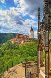 Middeleeuws kasteel Krivoklat in Tsjech Royalty-vrije Stock Afbeeldingen