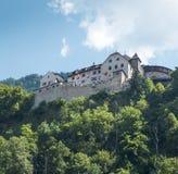 Middeleeuws kasteel in Liechtenstein stock foto