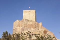Middeleeuws kasteel in Lorca, Murcia provincie, Spanje royalty-vrije stock fotografie