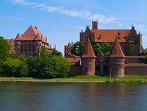 Middeleeuws kasteel in Malbork royalty-vrije stock foto's