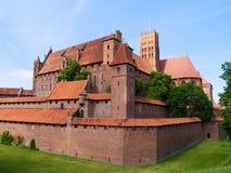 Middeleeuws kasteel in Malbork royalty-vrije stock foto