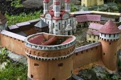 Middeleeuws kasteel mini Royalty-vrije Stock Foto
