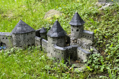 Middeleeuws kasteel mini Stock Foto's