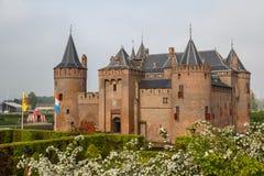 Middeleeuws kasteel in Muiden stock foto