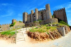 Middeleeuws kasteel in Obidos Royalty-vrije Stock Afbeeldingen